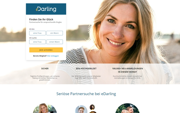 edarling homepage